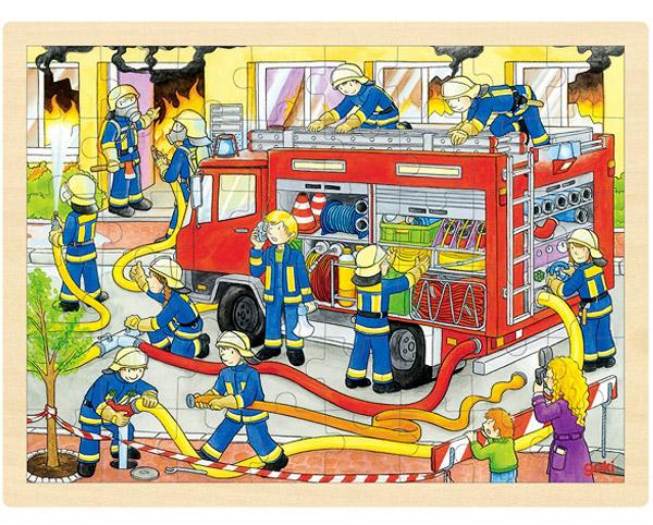 Gok Einlegepuzzle Feuerwehr