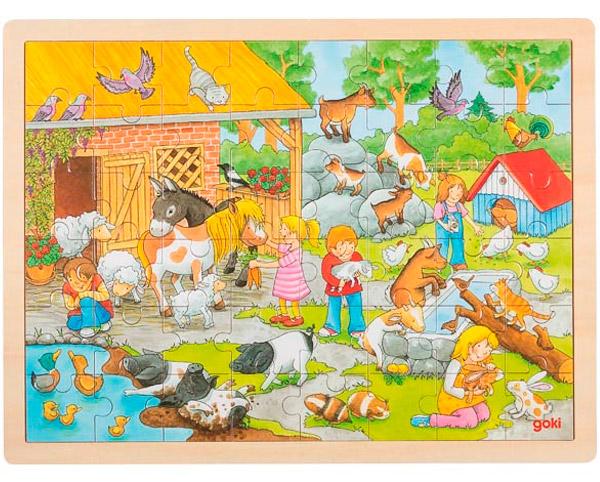 Goki Einlegepuzzle Streichelzoo